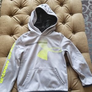 Boys under Armour silver, black, and neon yellow